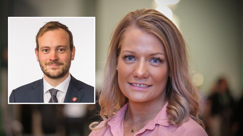 Sivert Bjørnstad fra Fremskrittspartiet og Sandra Borch fra Senterpartiet.