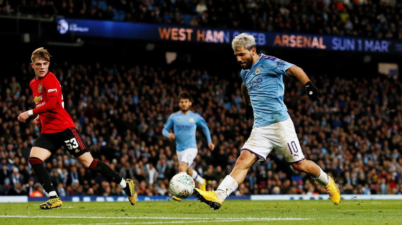 MÅLLØS: Sergio Agüero scoret ikke i returoppgjøret mot Manchester United, men City gikk likevel videre.