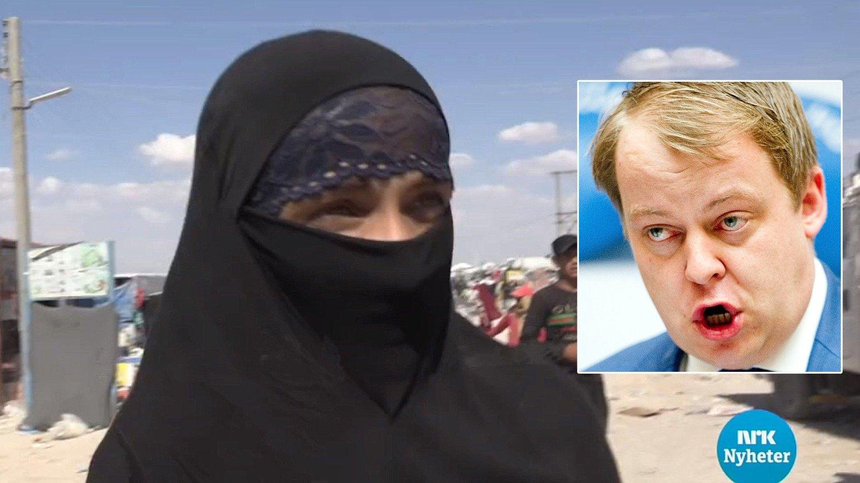 IS-kvinnen og leder for Arbeids- og sosialkomiteen Erlend Wiborg (Frp).