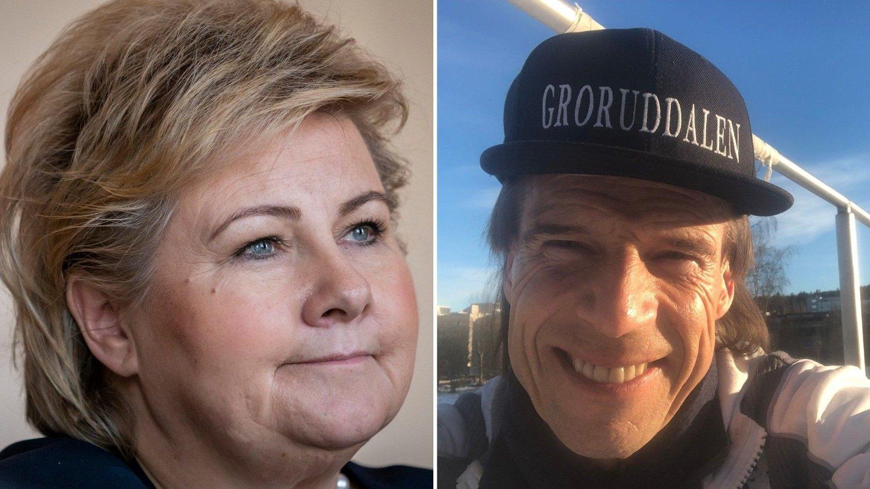 Erna Solberg og Jan Bøhler.