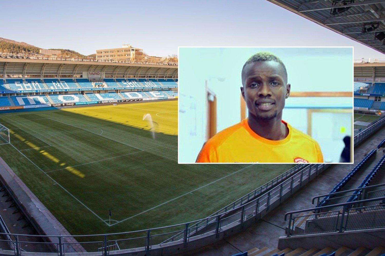 Bilde av Aker Stadion i Molde med tidligere spiller Babacar Sarr innfelt.