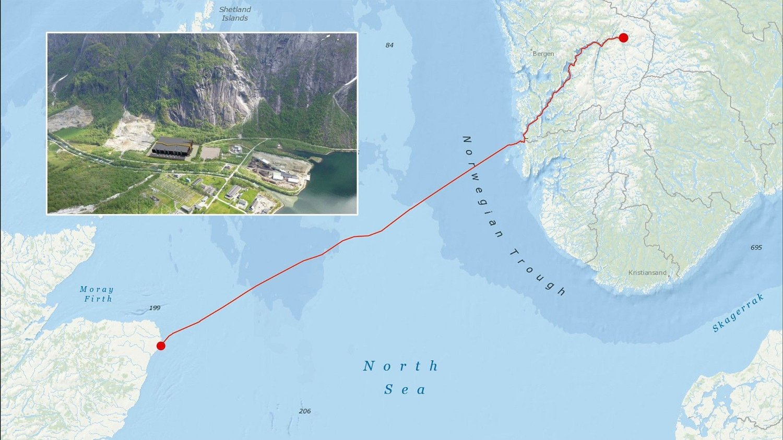 665 kilometer med undersjøisk strømkabel mellom Eidfjord og Peterhead i Skottland er i ferd med å bli en het debatt. Noen taper og noen tjener mye.