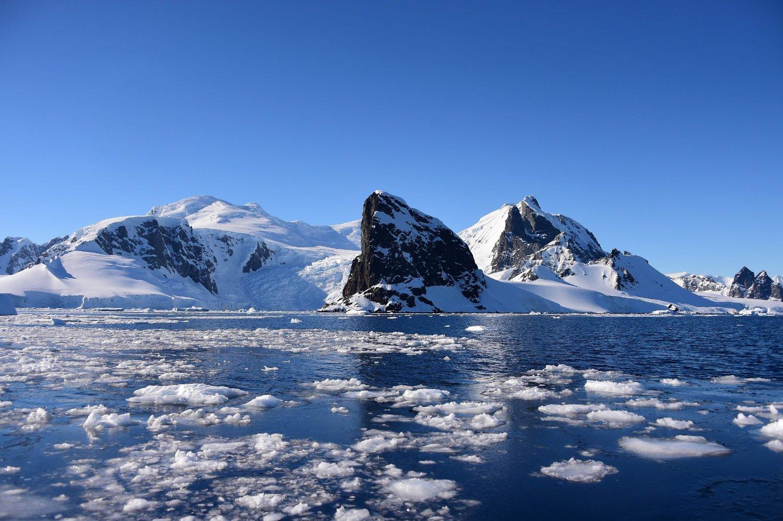Forskerne er forbauset over den oppsiktsvekkende varmerekorden på Antarktis. (Photo by Johan ORDONEZ / AFP)
