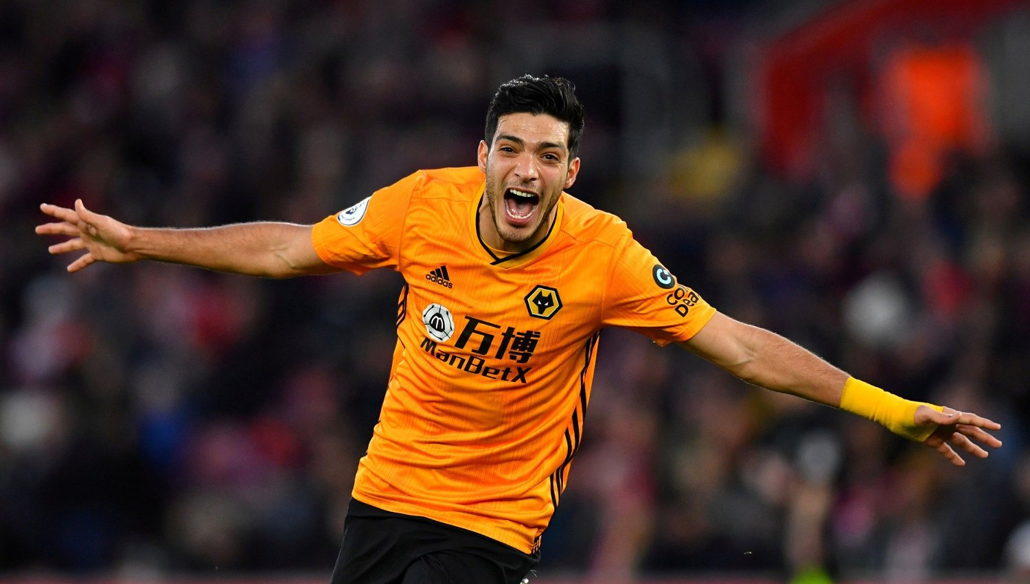 Soccer Football - Premier League - Southampton v Wolverhampton Wanderers - St Mary's Stadium, Southampton, Britain - January 18, 2020 Wolverhampton Wanderers' Raul Jimenez celebrates scoring their third goal REUTERS/Dylan Martinez EDITORIAL USE ONLY. No use with unauthorized audio, video, data, fixture lists, club/league logos or