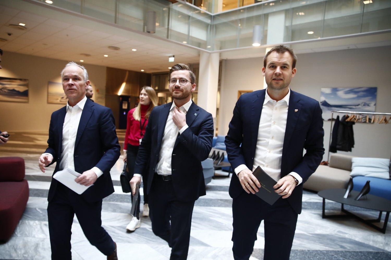 Oslo 20200207. Finansminister Jan Tore Sanner før en pressekonferanse om Norges forsterkede klimamål for 2030.