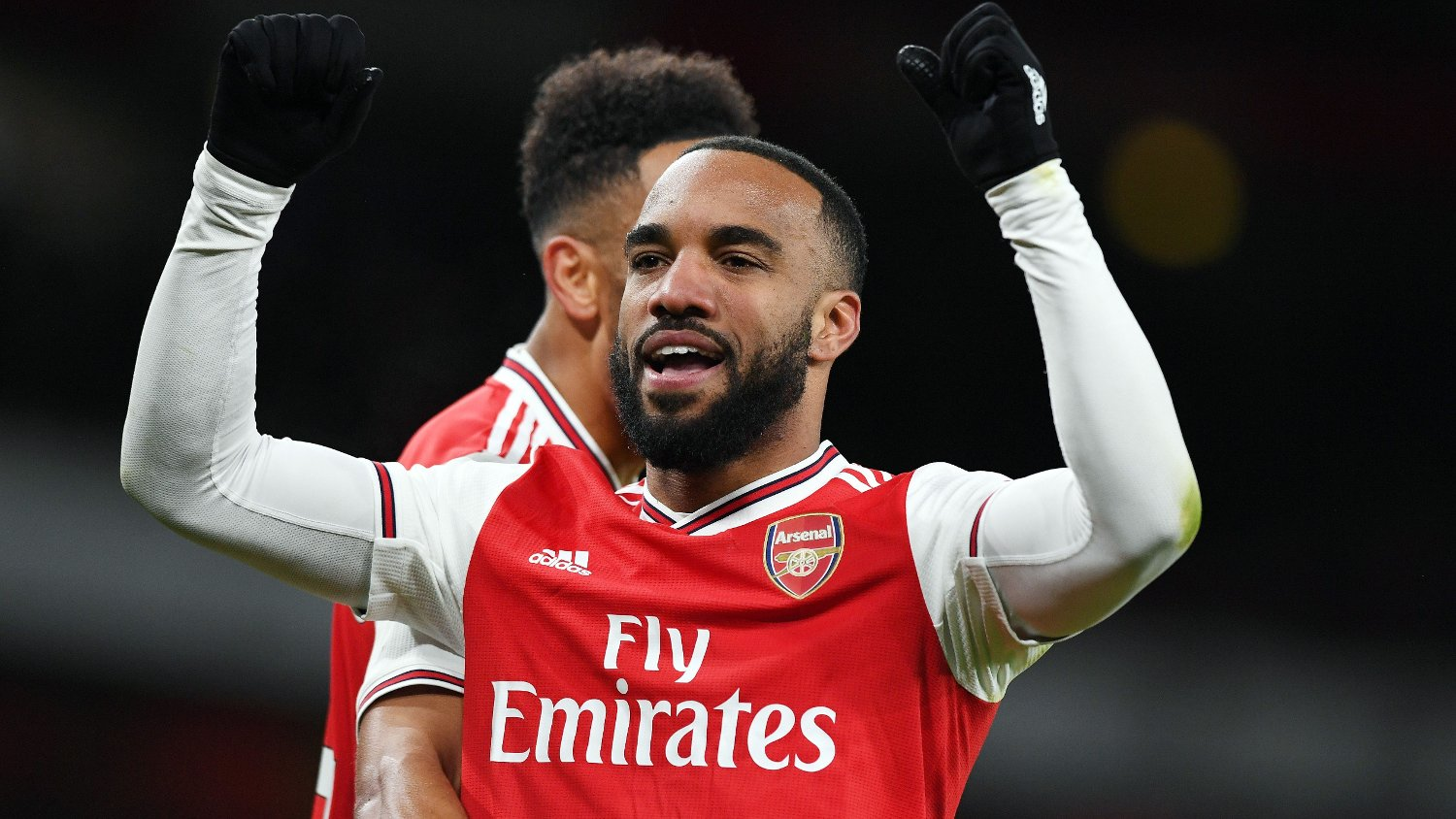 Alexandre Lacazette of Arsenal celebrates scoring his goal to make it 4-0 during the Premier League match at the Emirates Stadium, London. Picture date: 16th February 2020. Picture credit should read: Robin Parker/Sportimage via PA Images