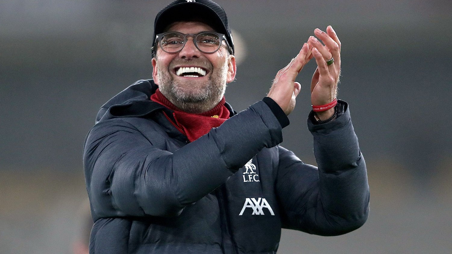Liverpool's Jurgen Klopp acknowledges the fans after the final whistle