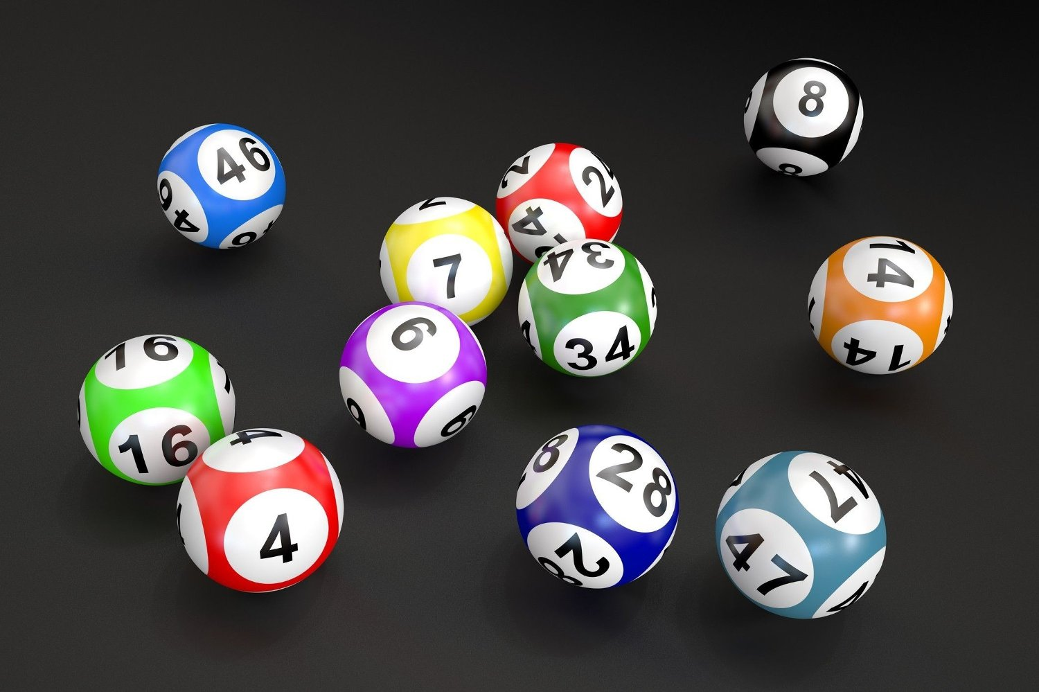 lottery balls lottery balls isolated on black background