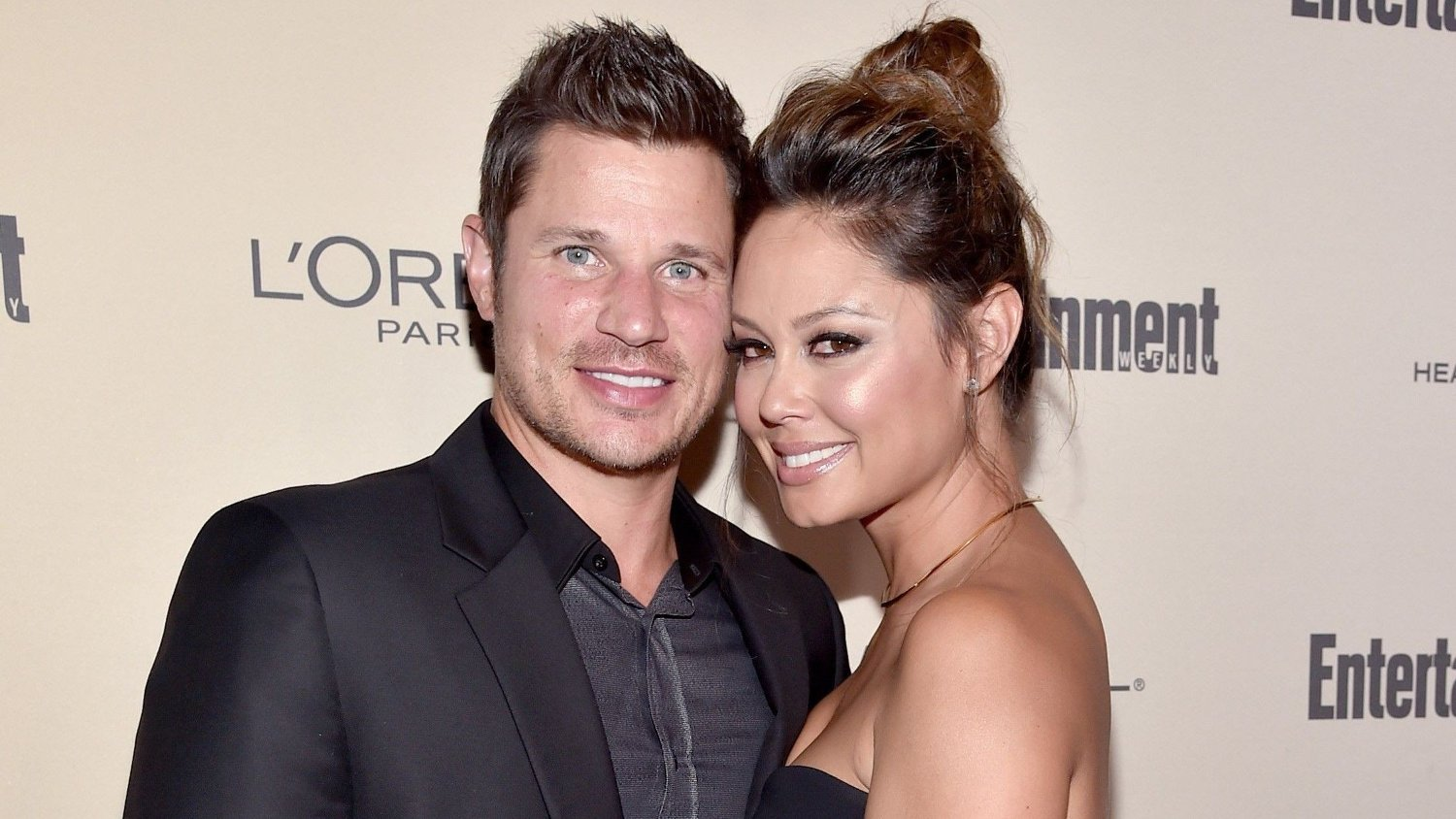 2015 Entertainment Weekly Pre-Emmy Party - Red Carpet WEST HOLLYWOOD, CA - SEPTEMBER 18: Recording artist Nick Lachey and tv personality Vanessa Lachey attend the 2015 Entertainment Weekly Pre-Emmy Party at Fig & Olive Melrose Place on September 18, 2015 in West Hollywood, California. Alberto E. Rodriguez/Getty Images for Entertainment Weekly/AFP == FOR NEWSPAPERS, INTERNET, TELCOS & TELEVISION USE ONLY ==