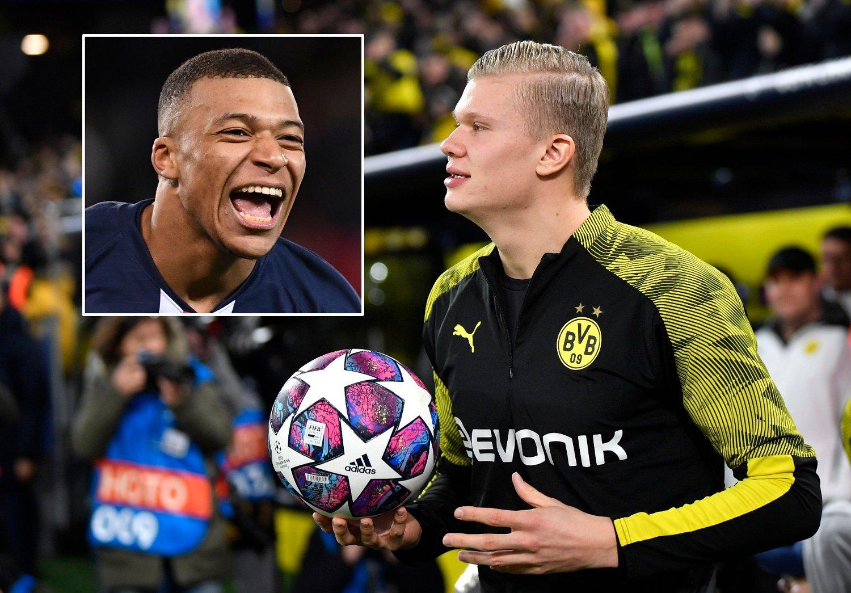 FRYDER SEG: Kylian Mbappé og PSG vant over Borussia Dortmund og Erling Braut Haaland.