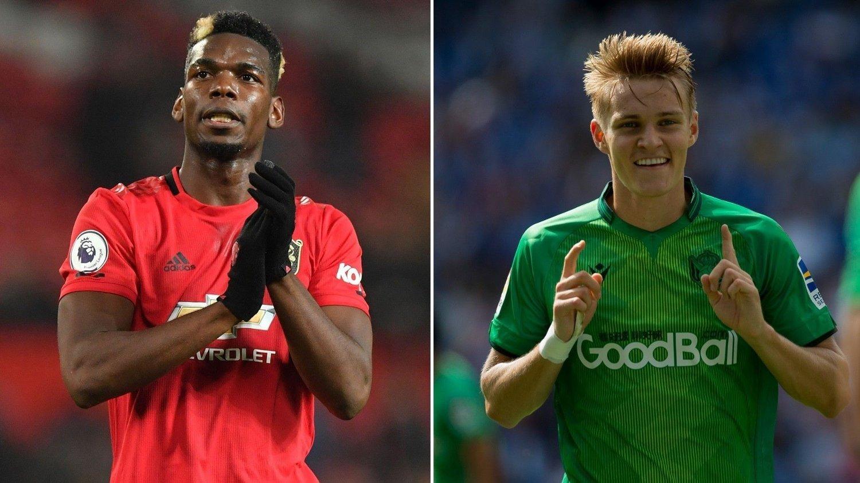 STOPP: Paul Pogba kan fort se sin overgang til Madrid ryke grunnet, blant andre, Martin Ødegaard.