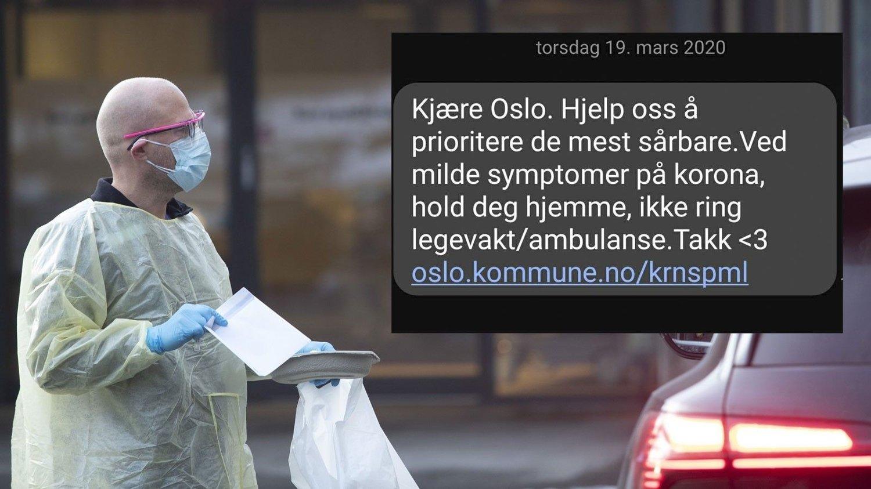 Oslo kommune sendte en innstendig oppfordring til sine innbyggere torsdag kveld.