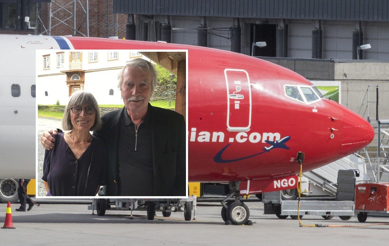 KOMMER IKKE HJEM: Tove Fridén og Asbjørn Hulaas kommer seg ikke hjem til Trondheim fra Alicante.
