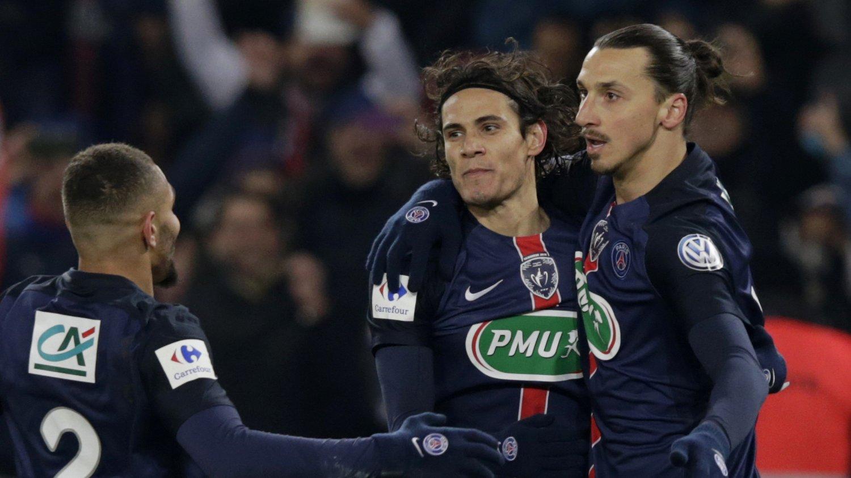 STJERNEDUO: Leeds skal ha forhørt seg om mulighetene for å signere Edinson Cavani og Zlatan Ibrahimovic i januar. Her er duoen under deres tid i PGS.