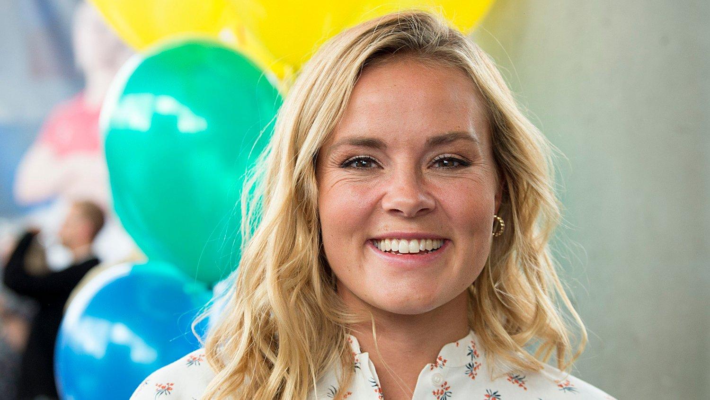 TV2s høstlansering 2019. Bergen 20190822. Programleder Helene Olafsen fra ÇSenkveld med Helene og StianÈ på TV2s høstlansering 2019.