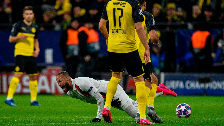 PROBLEMET: Neymar, som slo ut Erling Braut Haaland og Borussia Dortmund i Champions League, overspiller mye, ifølge Vicente del Bosque.