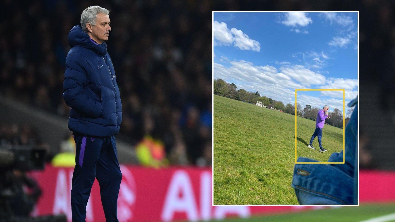 TRENINGSIVER: José Mourinho skal ha brutt karantenereglene i England.