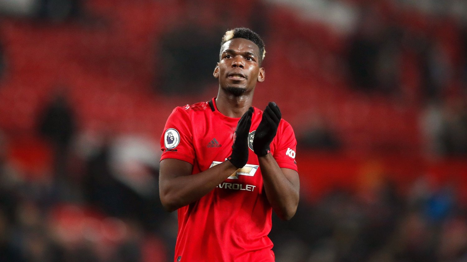 File photo dated 26-12-2019 of Manchester United's Paul Pogba applauds the fans after the Premier League match at Old Trafford, Manchester.