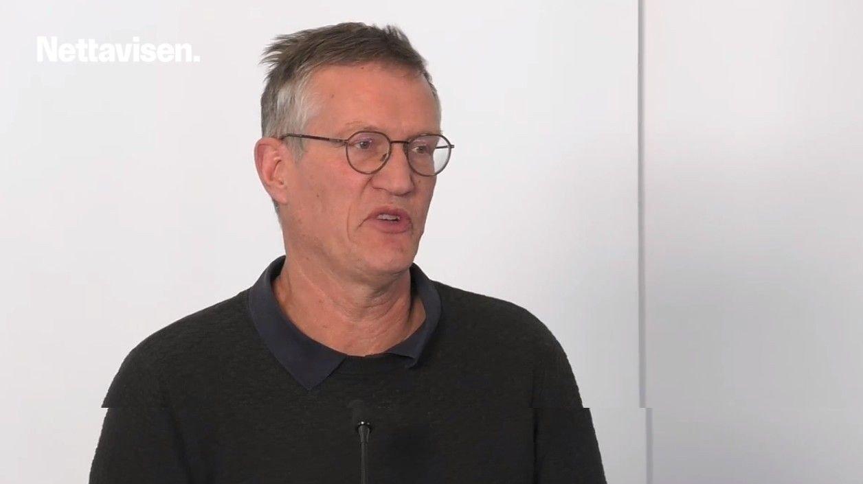 Statsepidemiolog Anders Tegnell på pressekonferanse tirsdag 14. april.
