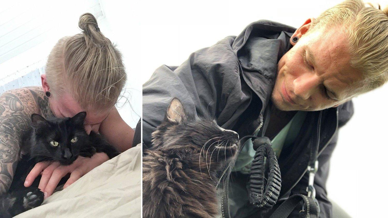 DYREVENN: Mikael Nyhus elsker dyr, og kommer til å savne katten Ninja.