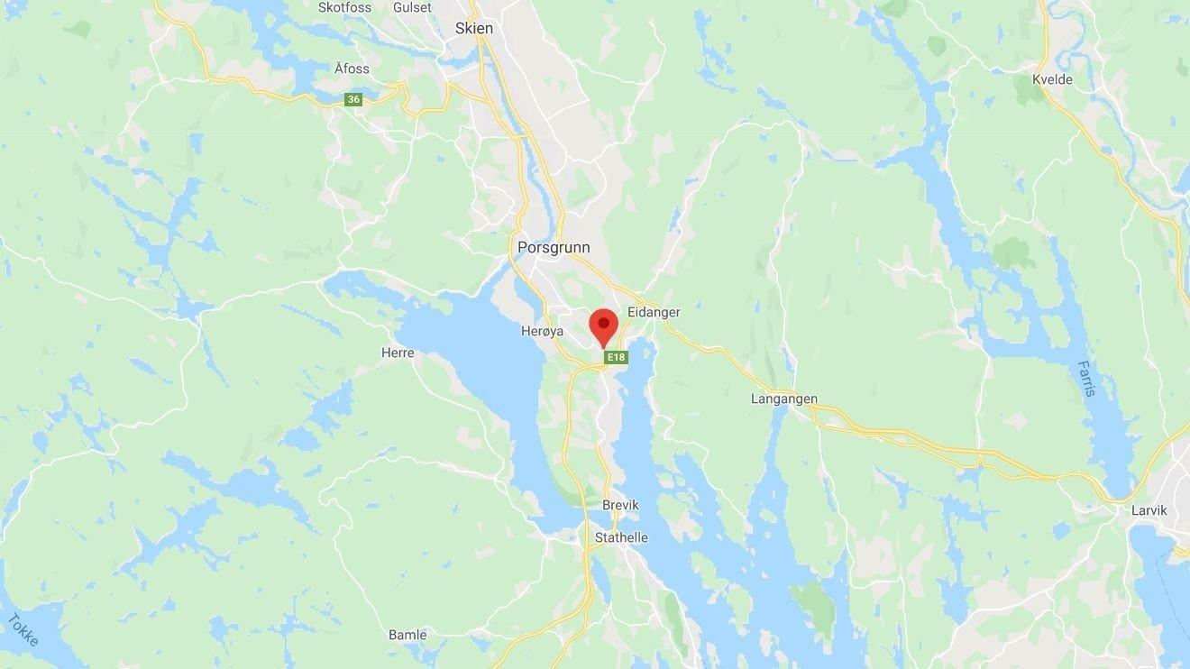 DØDSULYKKE: Påkjørselen skjedde i Turkisveien i Porsgrunn.