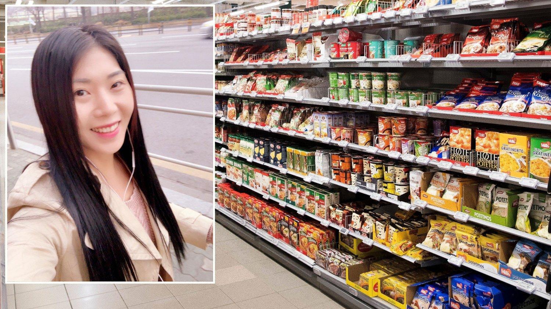 Elin Joojung Berg Moen opplevde koronarasisme i matvarebutikken.