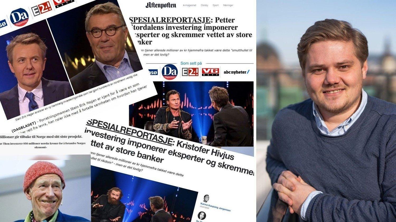 Svindel på nett er en økende milliardindustri og i Norge blir kjendiser og store mediehus misbrukt til å lure nordmenn. Digital direktør Lasse Fosshaug i Amedia Salg og Marked sier at teknologiselskapene må få kontroll på denne typen svindel.