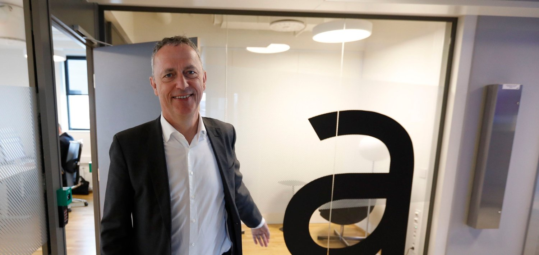 Oslo 20190312. Are Stokstad, konsernsjef i Amedia presenterte tirsdag konsernets resultat for 2018.