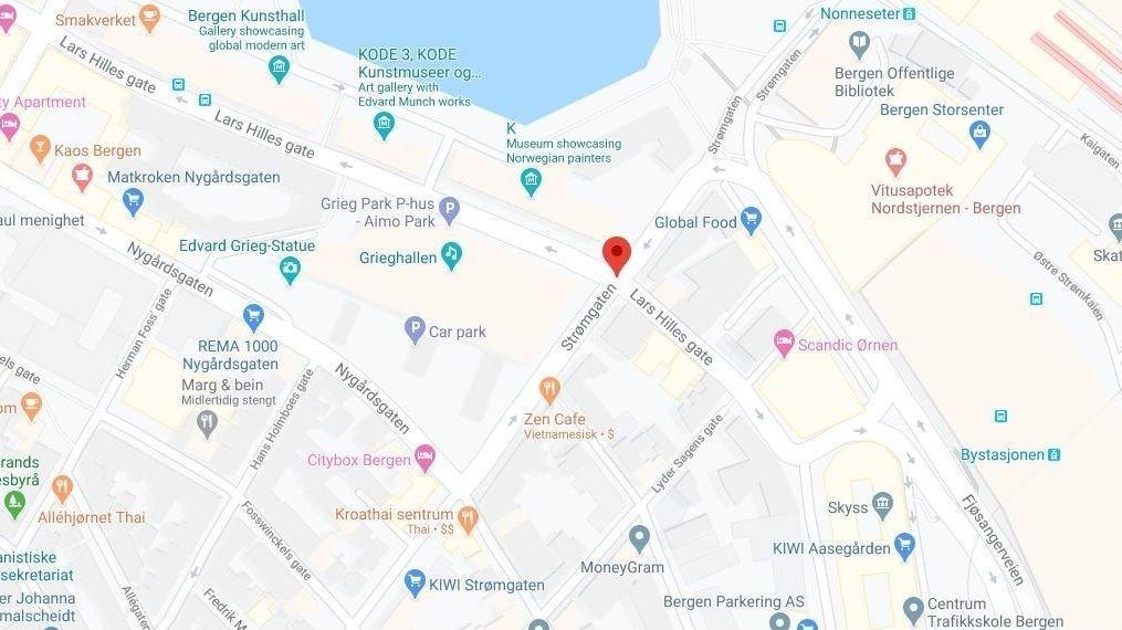 BRANN: Nesten 40 beboere måtte evakueres etter en brann i Bergen sentrum.