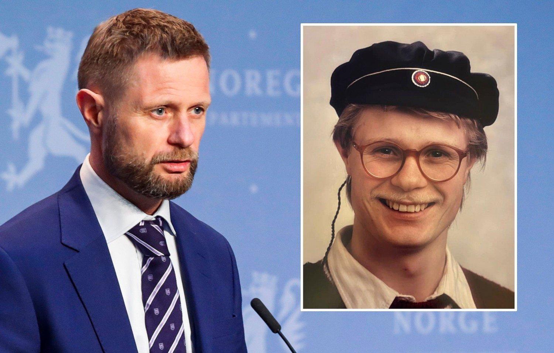 FÅR SKRYT: Helseminister Bent Høie fullroses for sin tale som rettet seg mot de unge og deres innsats under koronaepidemien. Da han delte talen på Facebook, la han ved et bilde av seg selv som russ.