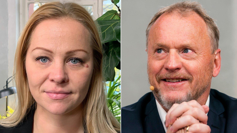 Rødt-politiker Eivor Evenrud og byrådsleder Raymond Johansen.