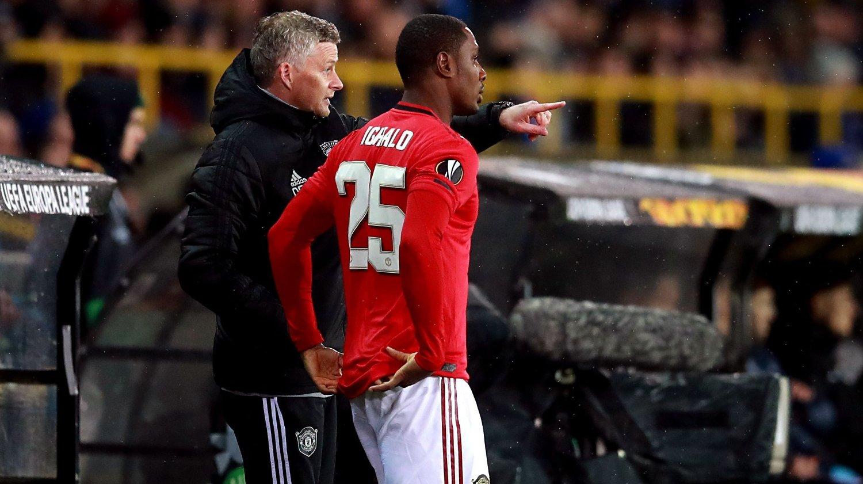 FÅR GODE RÅD: Odion Ighalo sier han har fått gode råd av Ole Gunnar Solskjær etter at han kom til Manchester United.