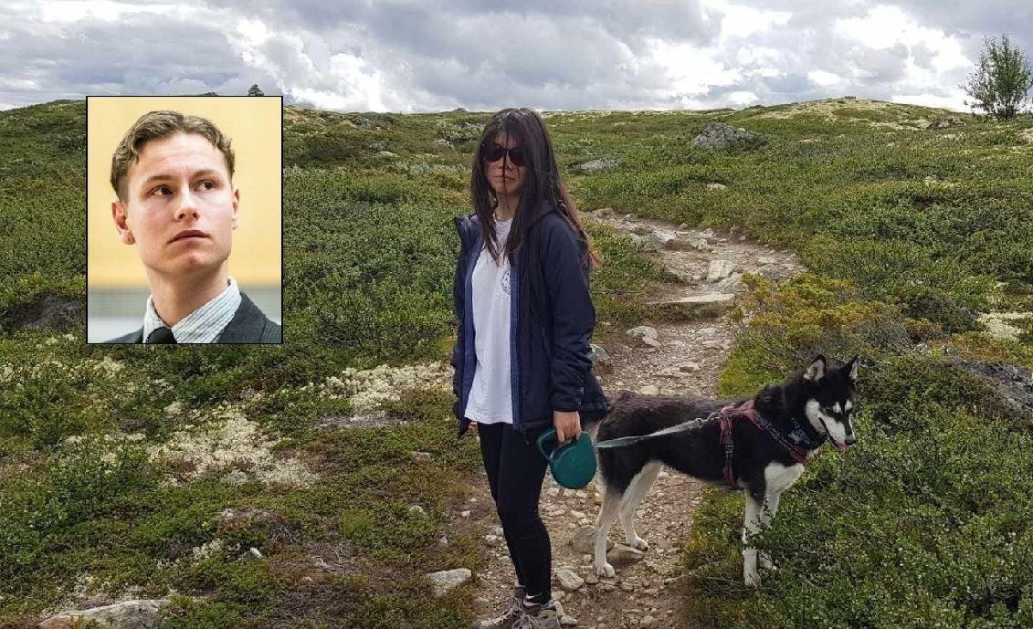 Avdøde Johanne Zhangjia Ihle-Hansen på fjelltur med hunden sin dagen før hun ble drept. 10. august 2019 ble hun skutt fire ganger i hodet og brystet av Philip Manshaus (innfelt).