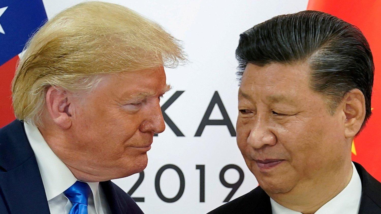 Her møtes president Donald Trump og president Xi Jinping under G20-møtet i Osaka, Japan, i juni 2019.