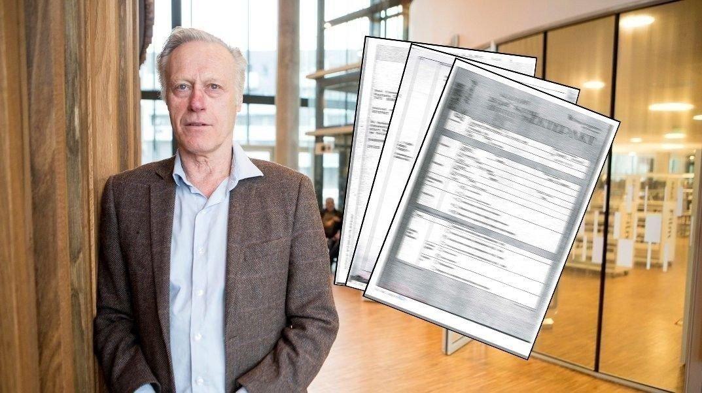 Tom Hagen undertegnet en ektepakt med Anne-Elisabeth Hagen i 1987, etter 18 års ekteskap. Den ble senere revidert. Siste offentlige tilgjengelige versjon er fra desember 1993.