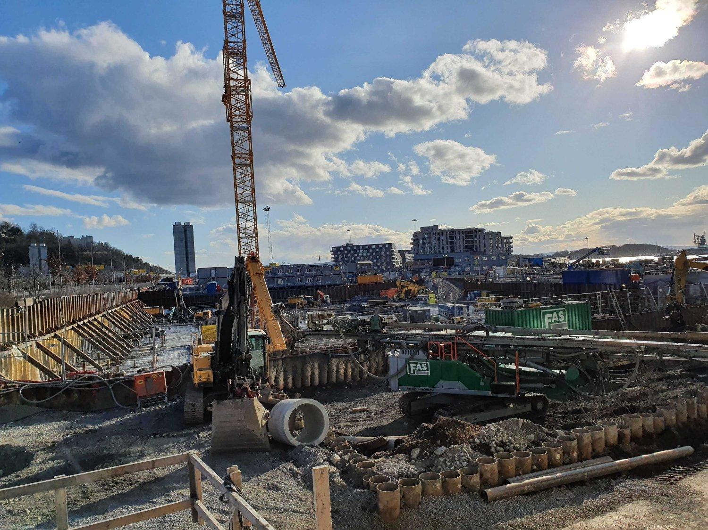 NYBYGG: Prosjektet Clemenskvartalet ligger mellom Sørenga og Eufemias plass Syd i Oslo.
