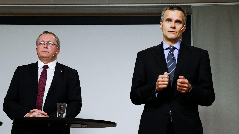 MIILLIARDSLØSING: Nåværende konsernsjef Eldar Sætre og tidligere konsernsjef Helge Lund er ansvarlig for at Equinor (tidligere Statoil) har sløst bort 200 millliarder kroner på en mislykket satsing i USA.