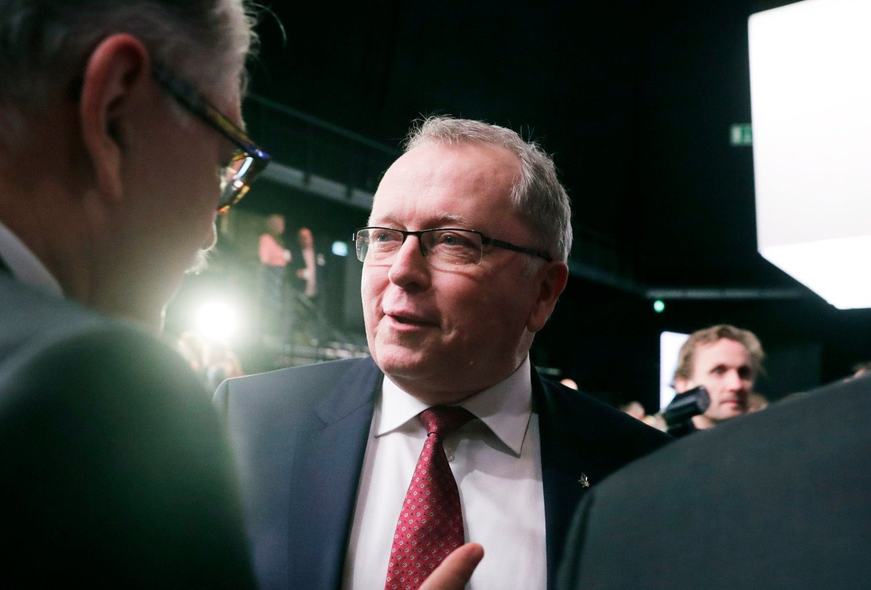 LAVERE BONUS: Equinor-sjef Eldar Sætre og resten av konsernsjefen avstår fra bonus i 2020. Bonusutbetalingen for i fjor ble også lavere enn i 2018.