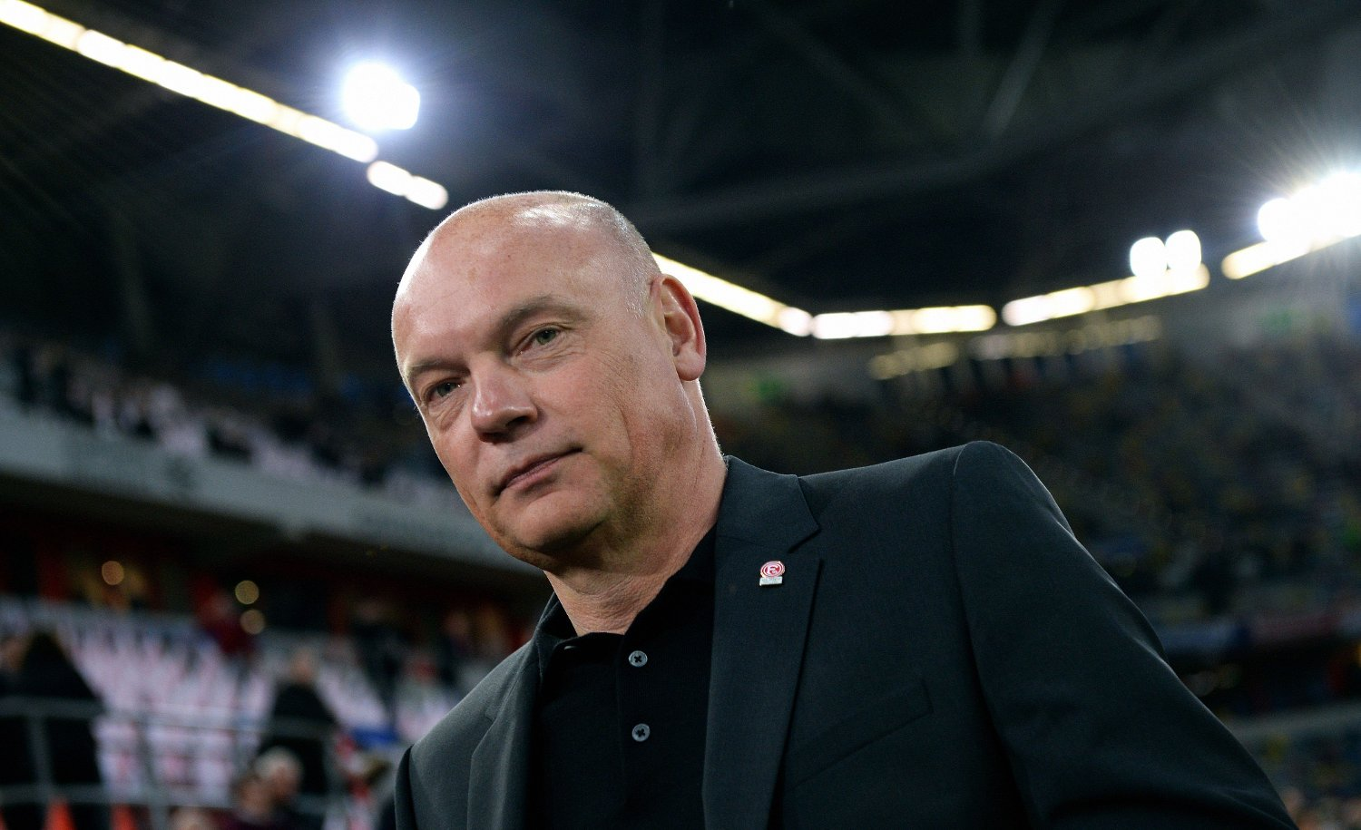 Fortuna Duesseldorf's German head coach Uwe Roesler arrives for the German first division Bundesliga football match Fortuna Dusseldorf v Borussia Moenchengladbach in Dusseldorf, western Germany on February 15, 2020.