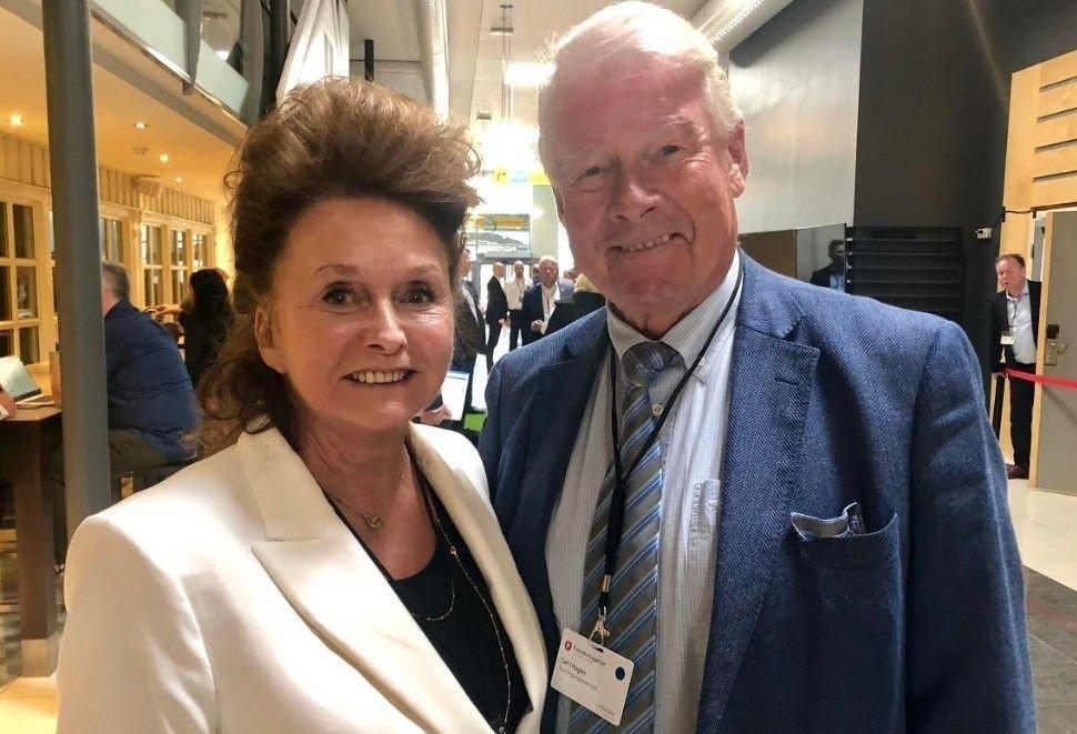 Ekteparet Eli (72) og Carl Ivar Hagen (76)