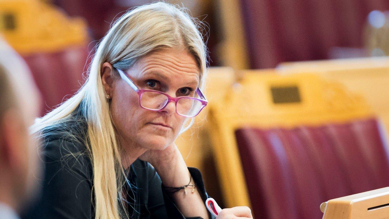 Oslo 20191003. Samfunnssikkerhetsminister Ingvil Smines Tybring‐Gjedde under trontaledebatten.