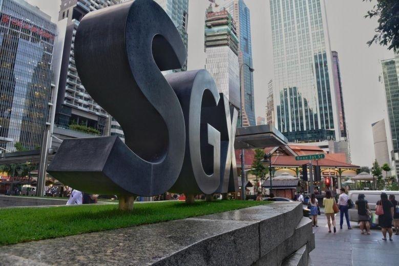 BØRSEN I SINGAPORE: Hovedbygningen til børsen i Singapore