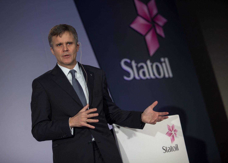 London, Storbritannia 20140207. Helge Lund presenterer fredag Statoil's resultater i London.