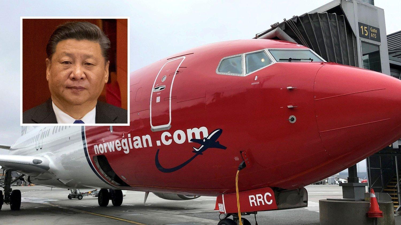 NY AKSJEEIER: Den kinesiske staten med statsoverhode Xi Jinping blir ny eier i Norwegian.