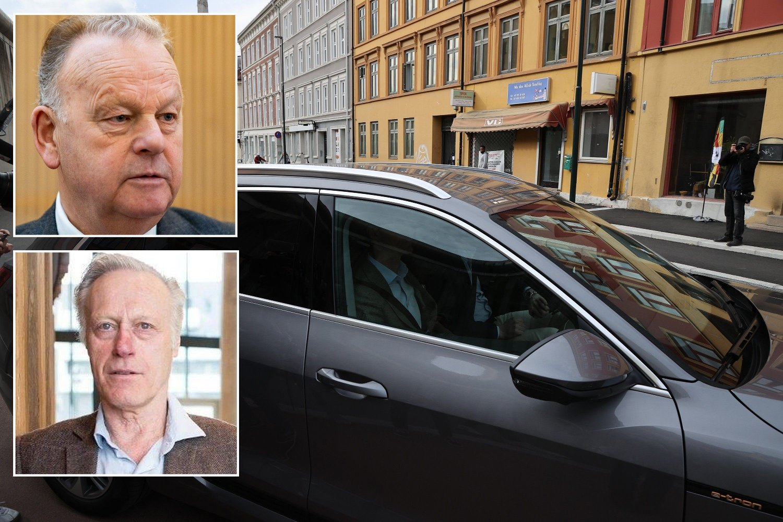 Tidligere polititopp Finn Abrahamsen (øverst) mener løslatelsen av Tom Hagen var noe av det verste som kunne skje: - Det var en knekk for politiet, sier han til Nettavisen. Her forlater Tom Hagen fengselet sammen med sin forsvarer, advokat Svein Holden, 8. mai.