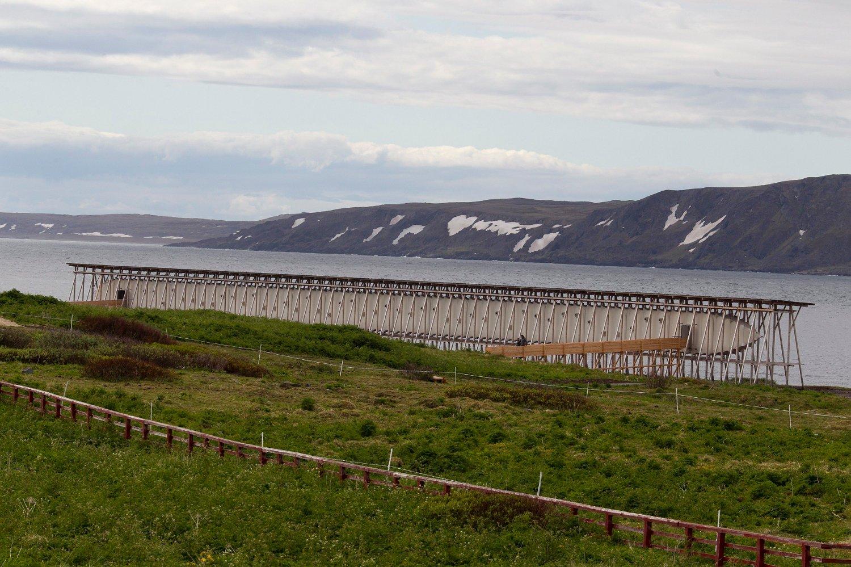 Heksemonumentet Steilneset i Vardø, Finnmark.