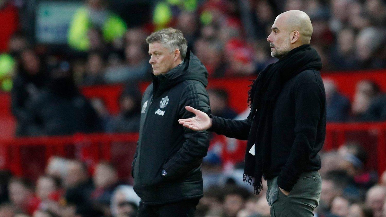 PROBLEMER: Både Ole Gunnar Solskjærs Manchester United og Pep Guardiolas Manchester City er fortsatt med i europacuper.
