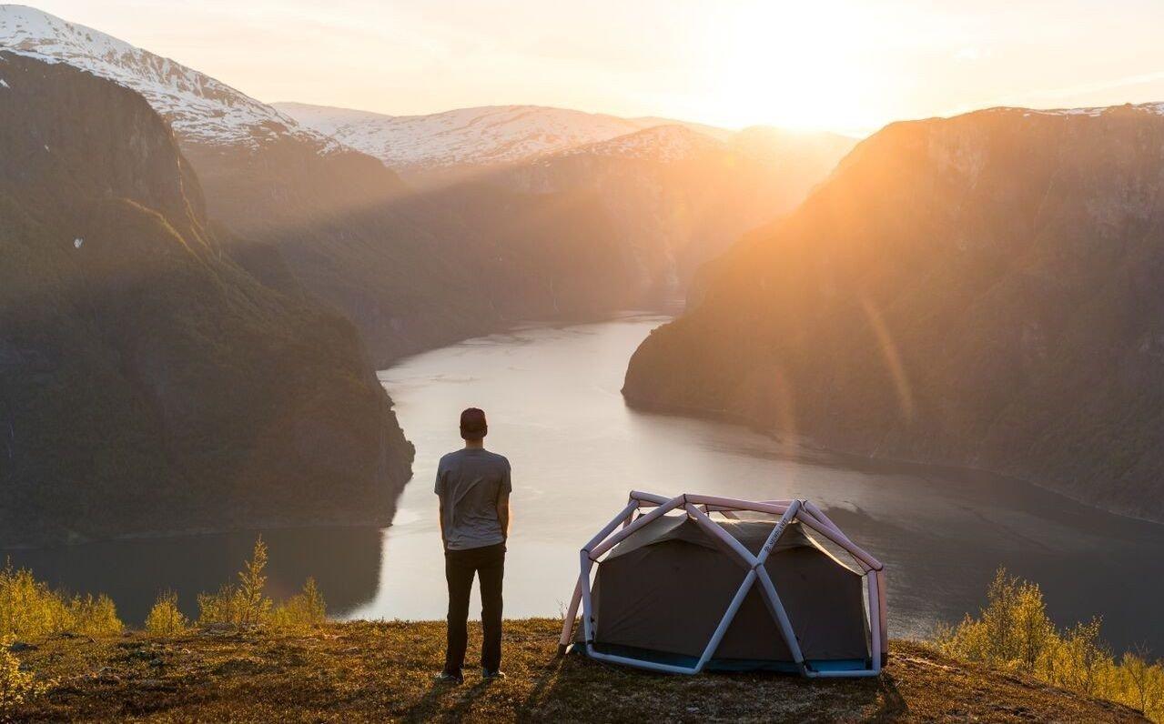 Det kule designet gjør det lett å kjenne igjen telt fra Heimplanet.