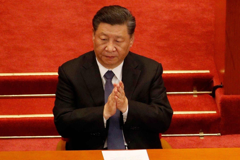 Kinas president Xi Jinping avbildet under den årlige kinesiske nasjonalkongressen.