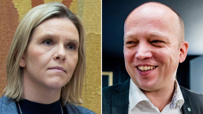 Sylvi Listhaug og Trygve Slagsvold Vedum.